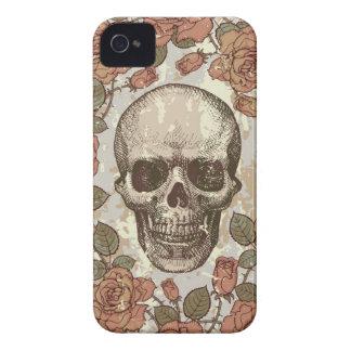 Floral Vintage Skull Light weight I phone Case