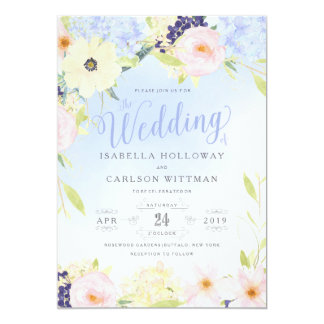 Floral Vintage Spring Wedding Card