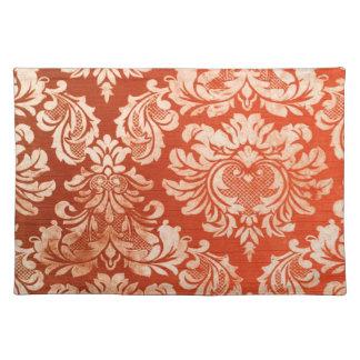 Floral vintage wallpaper background placemat