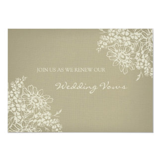 Floral Vintage Wedding Vow Renewal Invitation