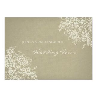 Floral Vintage Wedding Vow Renewal Invitation