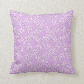 floral violet lace pattern cushion