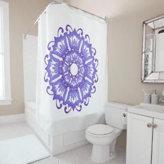 Floral violet mandala. shower curtain
