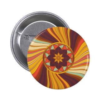 Floral vortex 6 cm round badge