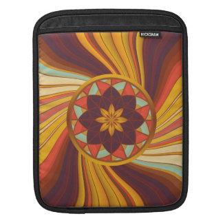 Floral vortex iPad sleeve