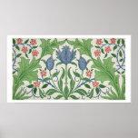 Floral wallpaper design print