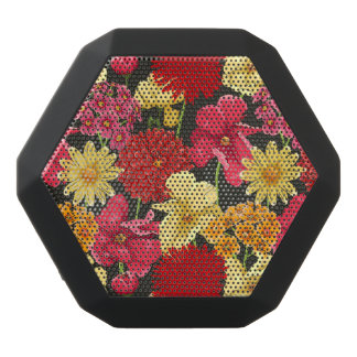 Floral wallpaper in watercolor style black boombot rex bluetooth speaker