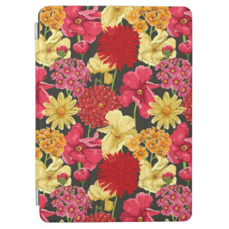 Floral wallpaper in watercolor style iPad air cover