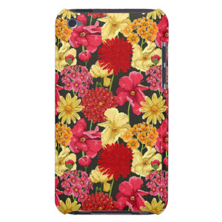 Floral wallpaper in watercolor style iPod touch cases