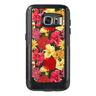 Floral wallpaper in watercolor style OtterBox samsung galaxy s7 case