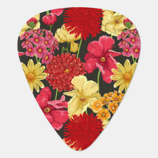 Floral wallpaper in watercolor style plectrum