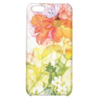 floral water color cover for iPhone 5C