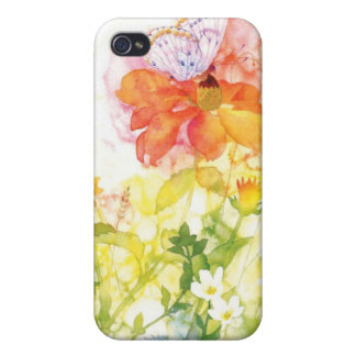 floral water color iPhone 4/4S cases