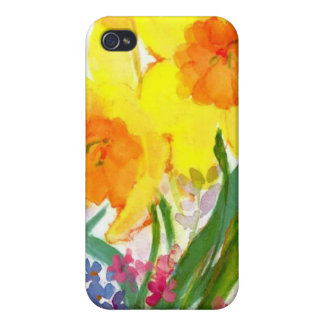 floral water color iphone case covers for iPhone 4