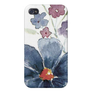 floral water colour cover for iPhone 4