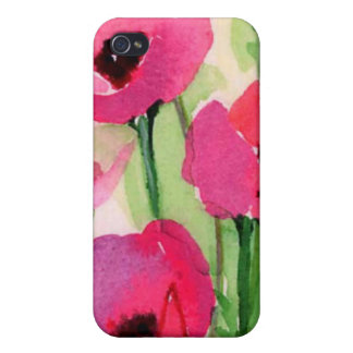 floral water colour iPhone 4 cases