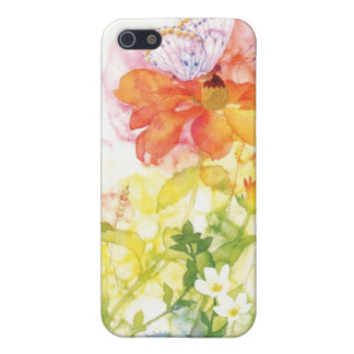 floral water colour iPhone 5 cover