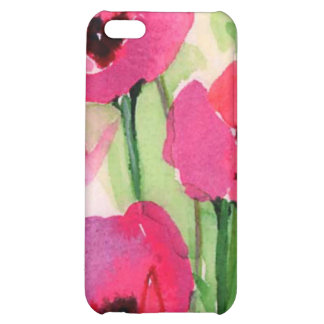 floral water colour iPhone 5C cases