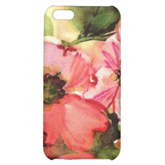 floral water colour iPhone 5C cover