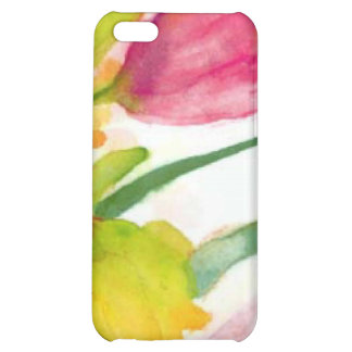 floral water colour tulips case for iPhone 5C