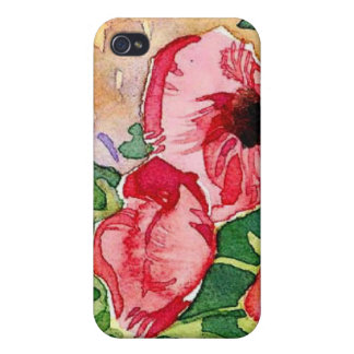 floral water colour tulips cases for iPhone 4