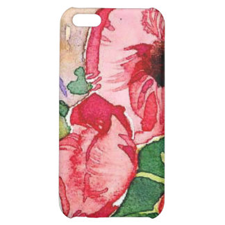 floral water colour tulips cover for iPhone 5C