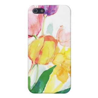 floral water colour tulips iPhone 5/5S cover