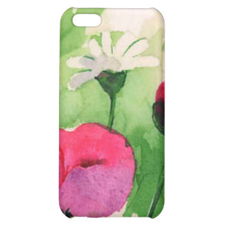 floral water colour tulips iPhone 5C cases