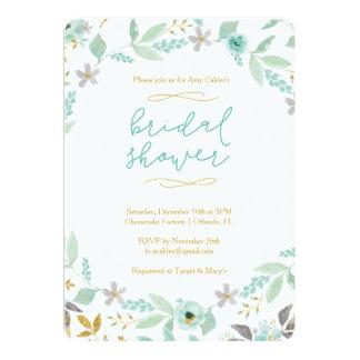 Floral Watercolor Bridal Shower Invitation