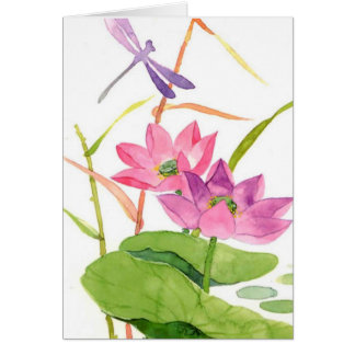 floral watercolor card