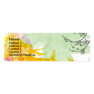 Floral Watercolor Card Double-Sided Mini Business Cards (Pack Of 20)