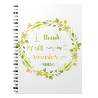 floral watercolor christian bible verse notebook