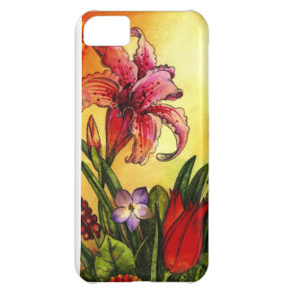 floral watercolor cover for iPhone 5C