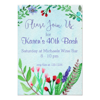 Floral Watercolor Join Us Invite