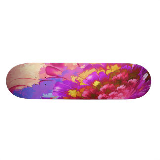 Floral Watercolor Painting abstract Skateboards