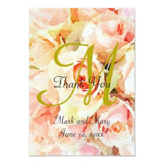 Floral Watercolor Peach Roses 13 Cm X 18 Cm Invitation Card