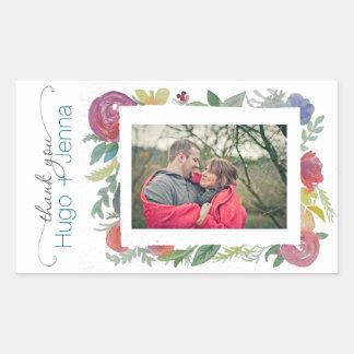 Floral Watercolor Photo Sticker