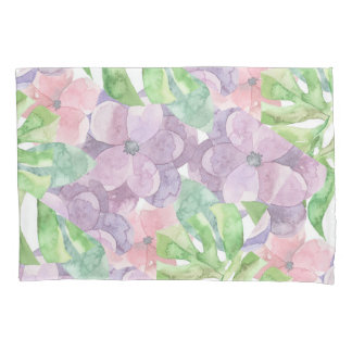Floral Watercolor Pillowcase