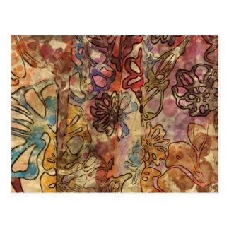 Floral Watercolor Postcard