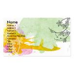 Floral Watercolor Profile Card