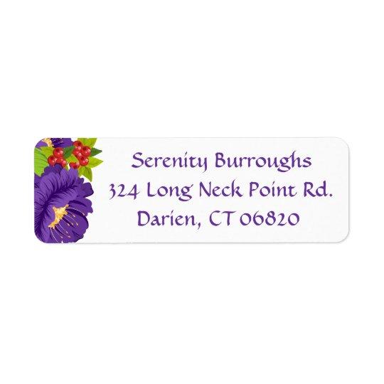Floral Watercolor Purple Flowers