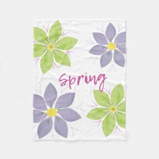 Floral Watercolor Spring Blanket