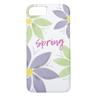 Floral Watercolor Spring iPhone Case