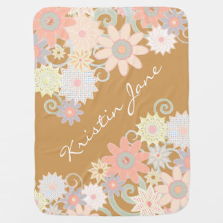 Floral Watercolor Strokes, Customize the color! Baby Blanket