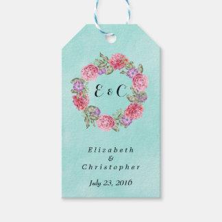 Floral Watercolor Wreath Stylish Wedding