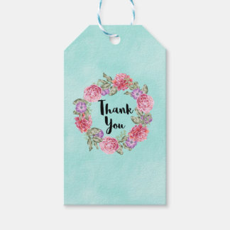 Floral Watercolor Wreath Thank You