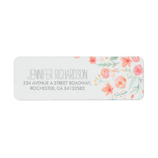 Floral Watercolors Address Labels