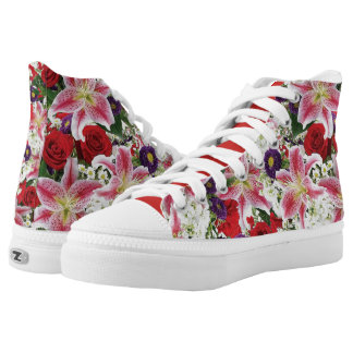 floral watercolors high tops