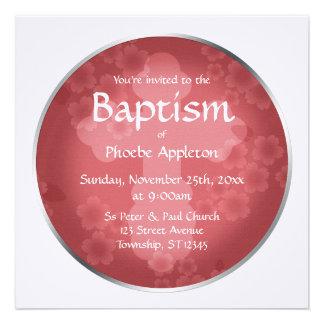 Floral Watermark Shiraz Baptism Invitations