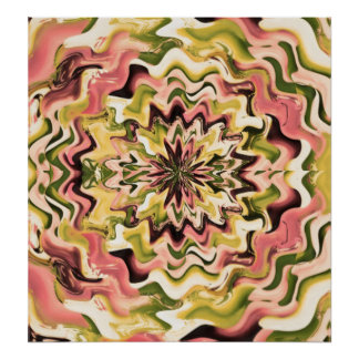 Floral Waves - Unique Design Concepts by Navin Poster
